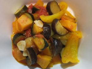 ラタトゥユは程よい酸味と野菜の甘みがしみだして美味しかった