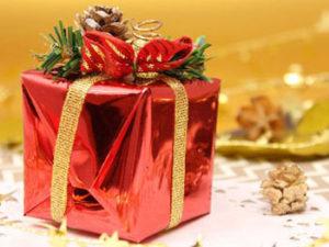 プレゼント買ってもらった後のディナーかしら?